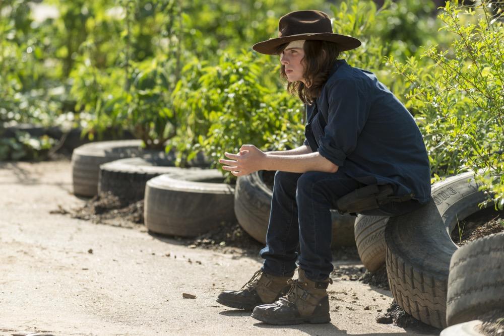 Chandler Riggs as Carl Grimes- The Walking Dead _ Season 7, Episode 9 - Photo Credit: Gene Page/AMC