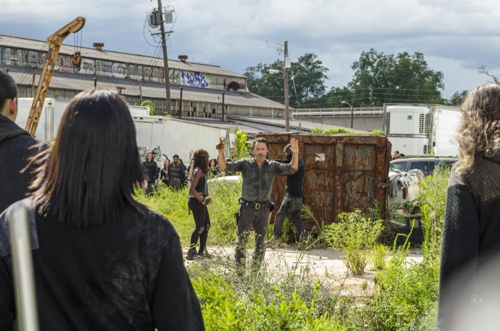 Andrew Lincoln as Rick Grimes, Danai Gurira as Michonne- The Walking Dead _ Season 7, Episode 9 - Photo Credit: Gene Page/AMC