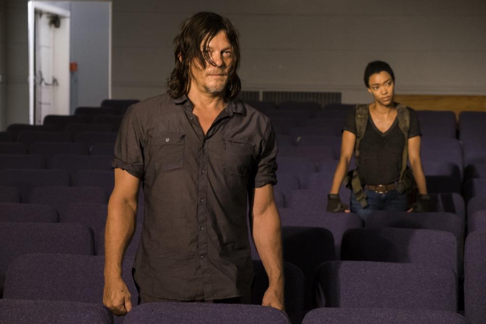 Sonequa Martin-Green as Sasha Williams, Norman Reedus as Daryl Dixon- The Walking Dead _ Season 7, Episode 9 - Photo Credit: Gene Page/AMC