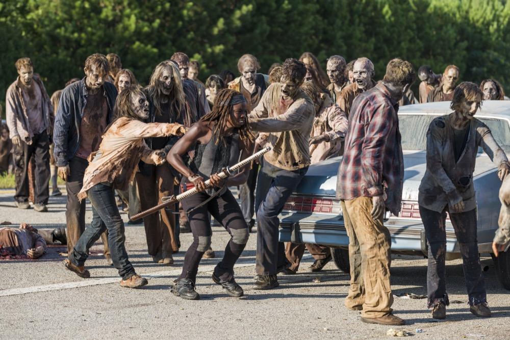 Danai Gurira as Michonne- The Walking Dead _ Season 7, Episode 9 - Photo Credit: Gene Page/AMC