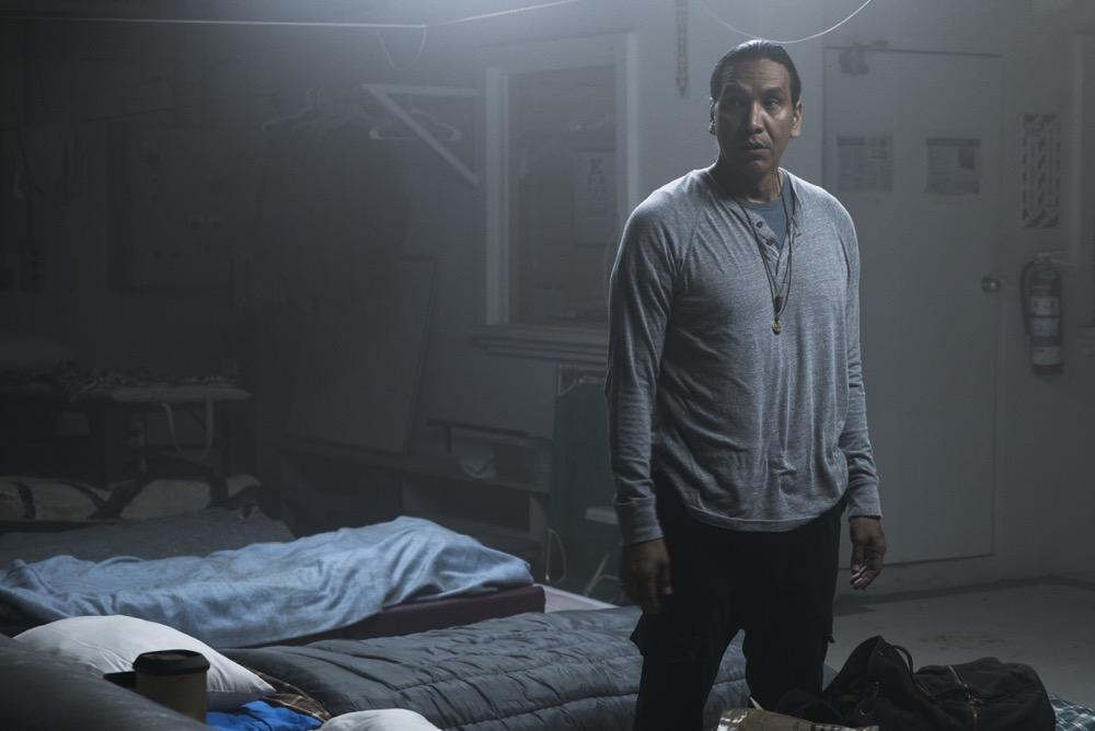 Michael Greyeyes as Qaletaqa - Fear the Walking Dead _ Season 3, Episode 11 - Photo Credit: Richard Foreman, Jr/AMC