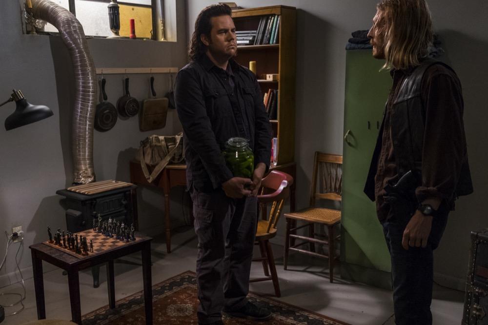 Josh McDermitt as Dr. Eugene Porter, Austin Amelio as Dwigh- The Walking Dead _ Season 8, Episode 5 - Photo Credit: Gene Page/AMC