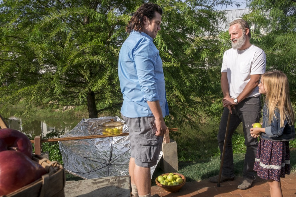 Josh McDermitt as Dr. Eugene Porter, Andrew Lincoln as Rick Grimes - The Walking Dead _ Season 8, Episode 9 - Photo Credit: Gene Page/AMC
