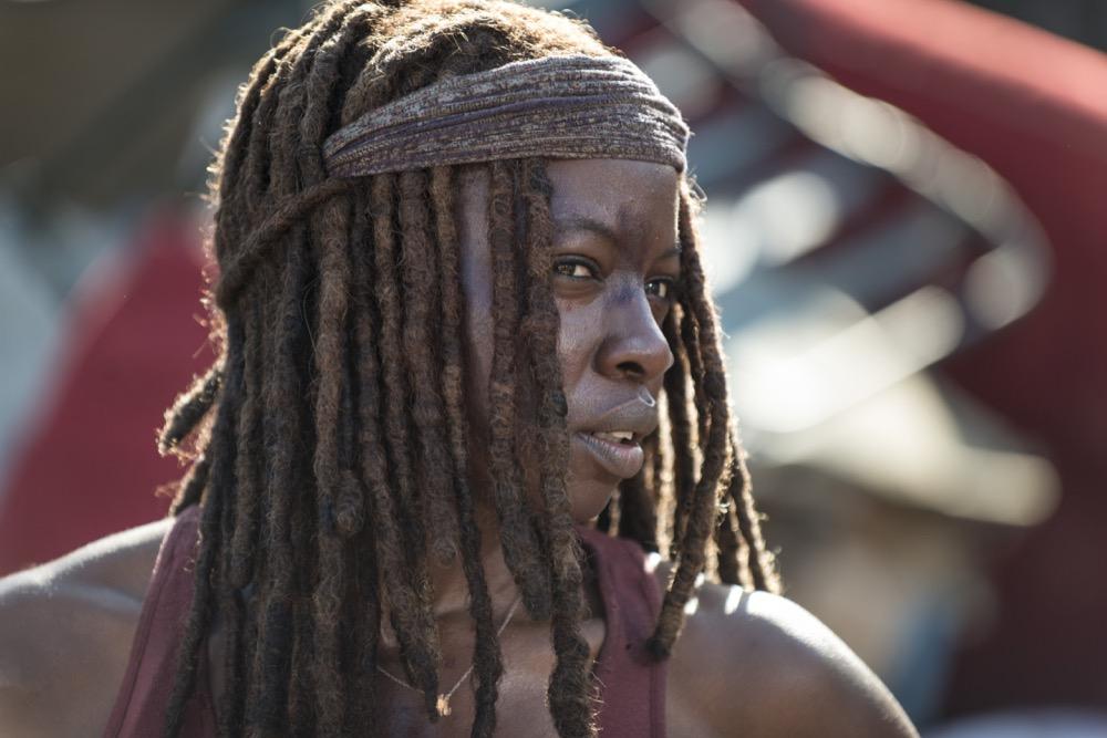 Danai Gurira as Michonne - The Walking Dead _ Season 8, Episode 10 - Photo Credit: Gene Page/AMC