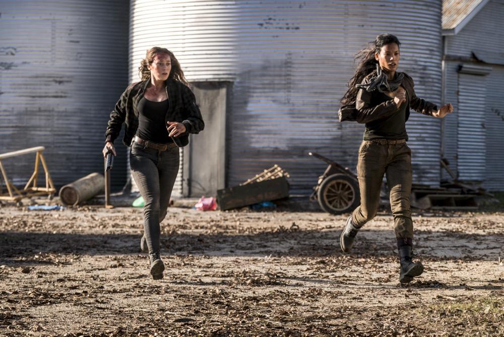 Alycia Debnam-Carey as Alicia Clark, Danay Garcia as Luciana - Fear the Walking Dead _ Season 4, Episode 3 - Photo Credit: Richard Foreman, Jr/AMC