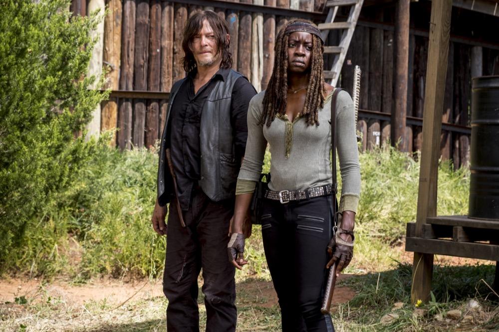 Norman Reedus as Daryl Dixon, Danai Gurira as Michonne - The Walking Dead _ Season 8, Episode 12 - Photo Credit: Gene Page/AMC