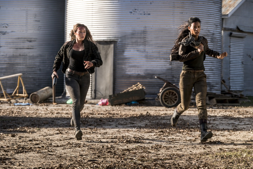 Alycia Debnam-Carey as Alicia Clark, Danay Garcia as Luciana - Fear the Walking Dead _ Season 4, Episode 3 - Photo Credit: Richard Foreman, Jr/AMC