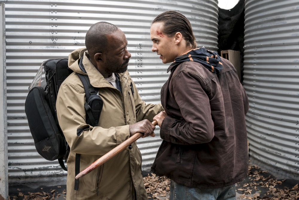 Lennie James as Morgan Jones, Frank Dillane as Nick Clark - Fear the Walking Dead _ Season 4, Episode 3 - Photo Credit: Richard Foreman, Jr/AMC