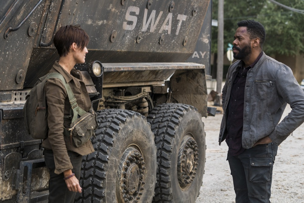 Maggie Grace as Althea, Colman Domingo as Victor Strand - Fear the Walking Dead _ Season 4, Episode 3 - Photo Credit: Richard Foreman, Jr/AMC