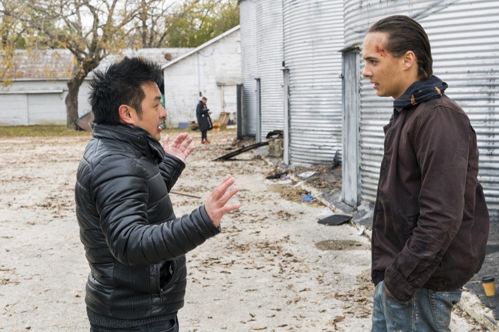 BTS, Director Dan Liu, Frank Dillane as Nick Clark - Fear the Walking Dead _ Season 4, Episode 3 - Photo Credit: Richard Foreman, Jr/AMC