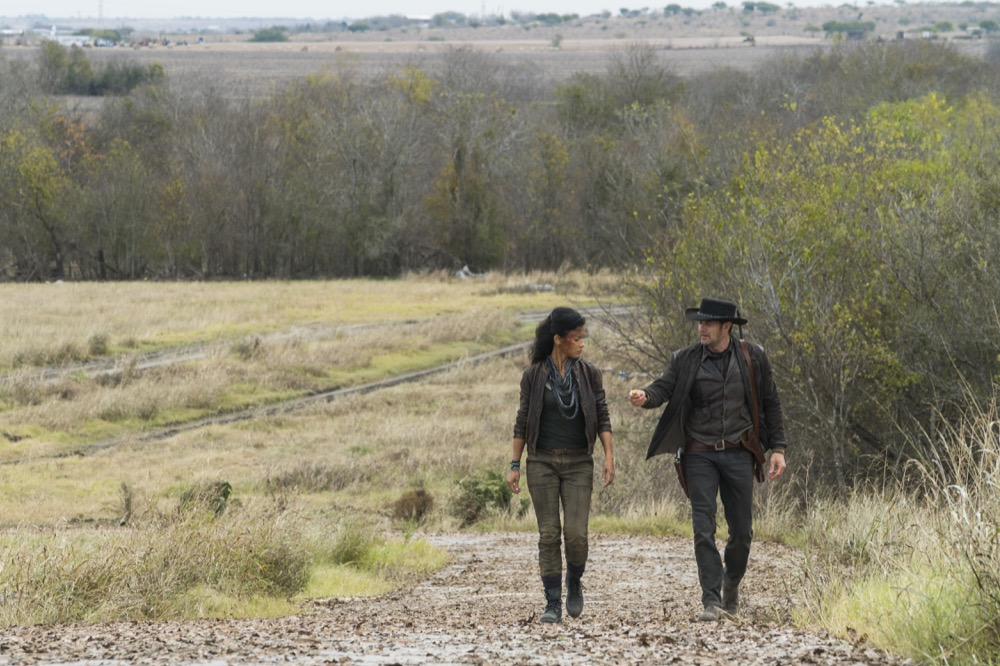 Danay Garcia as Luciana, Garret Dillahunt as John Dorie - Fear the Walking Dead _ Season 4, Episode 3 - Photo Credit: Richard Foreman, Jr/AMC