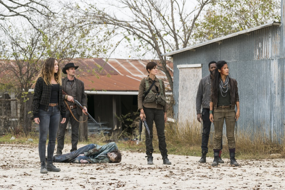 Garret Dillahunt as John Dorie, Maggie Grace as Althea, Alycia Debnam-Carey as Alicia Clark, Danay Garcia as Luciana, Colman Domingo as Victor Strand - Fear the Walking Dead _ Season 4, Episode 3 - Photo Credit: Richard Foreman, Jr/AMC