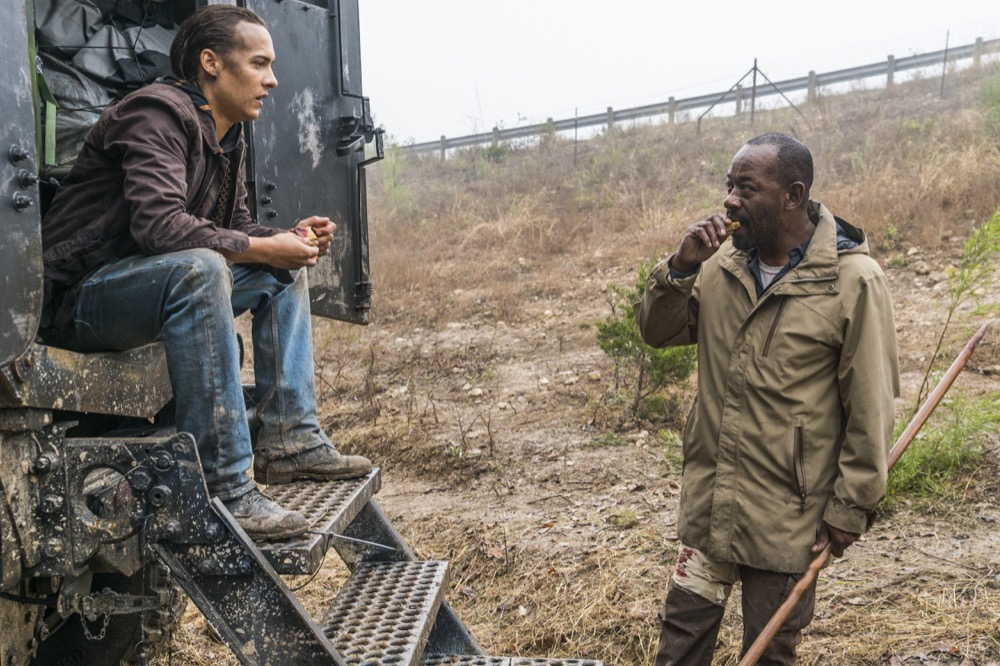 Frank Dillane as Nick Clark, Lennie James as Morgan Jones - Fear the Walking Dead _ Season 4, Episode 3 - Photo Credit: Richard Foreman, Jr/AMC