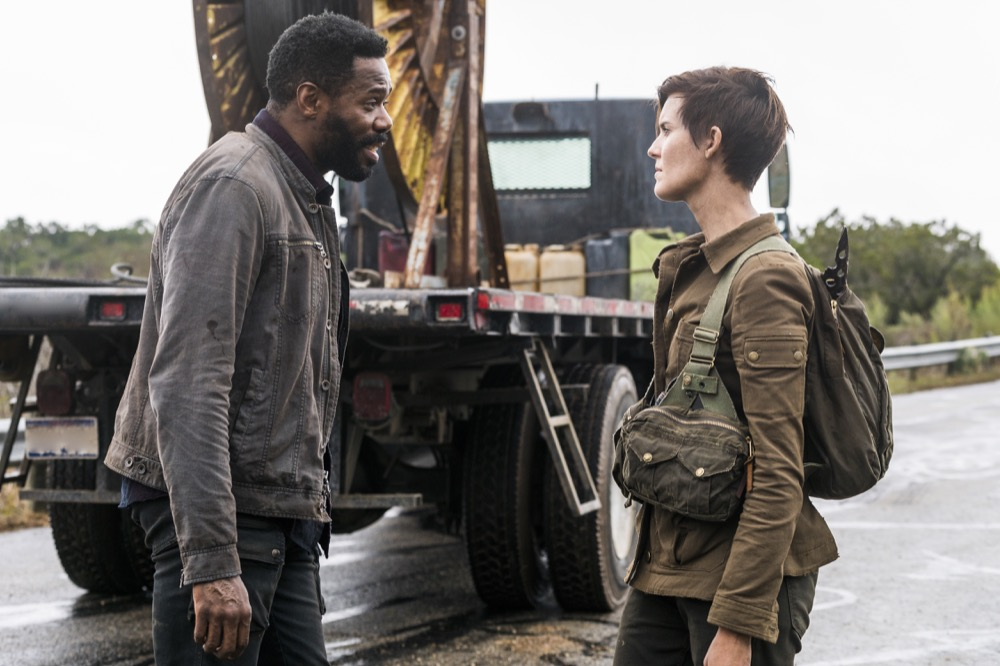Colman Domingo as Victor Strand, Maggie Grace as Althea - Fear the Walking Dead _ Season 4, Episode 3 - Photo Credit: Richard Foreman, Jr/AMC