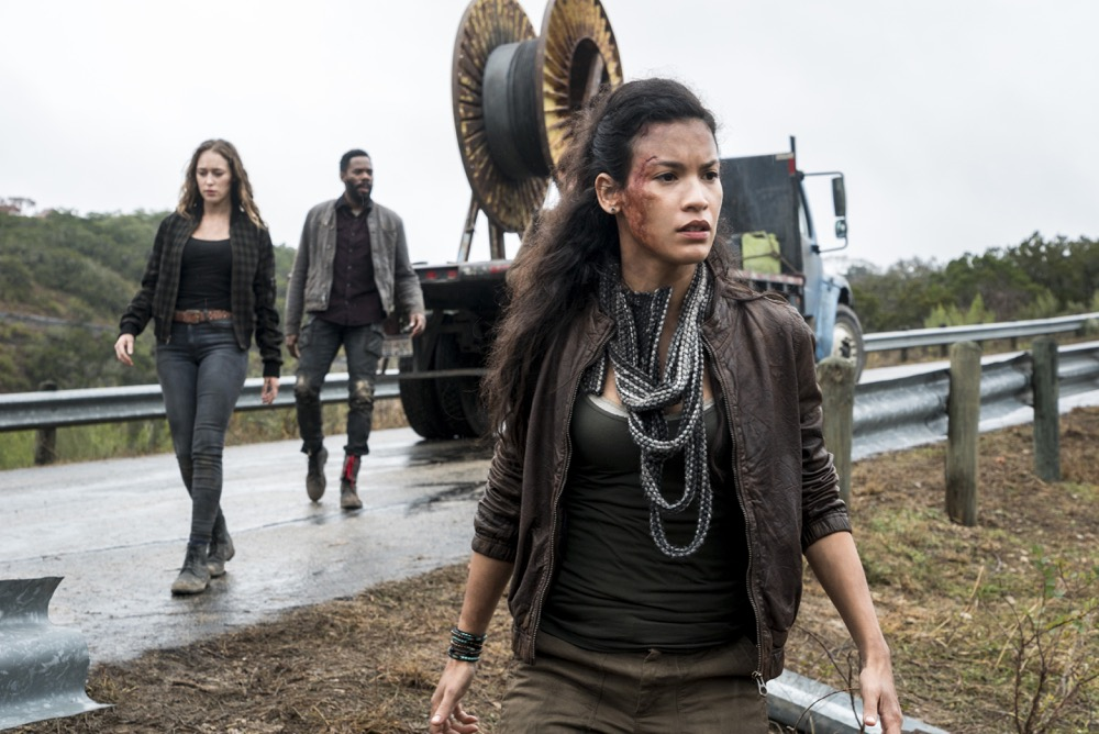 Danay Garcia as Luciana, Alycia Debnam-Carey as Alicia Clark, Colman Domingo as Victor Strand - Fear the Walking Dead _ Season 4, Episode 3 - Photo Credit: Richard Foreman, Jr/AMC