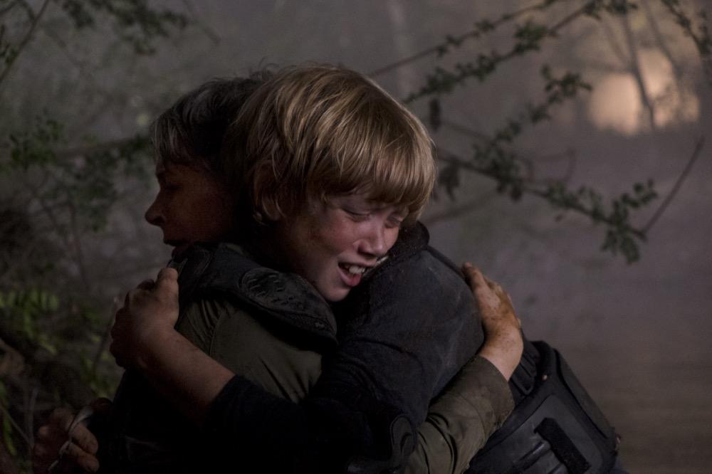 Melissa McBride as Carol Peletier, Macsen Lintz as Henry - The Walking Dead _ Season 8, Episode 14 - Photo Credit: Gene Page/AMC