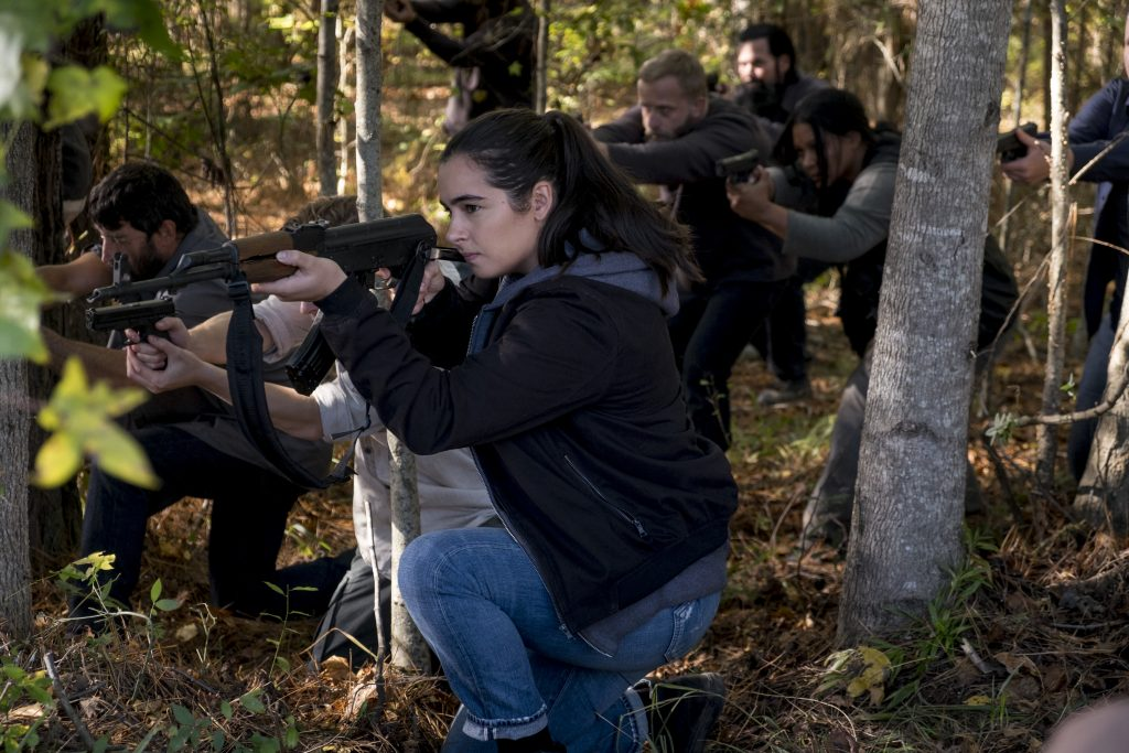 Alanna Masterson as Tara Chambler - The Walking Dead _ Season 8, Episode 16 - Photo Credit: Gene Page/AMC