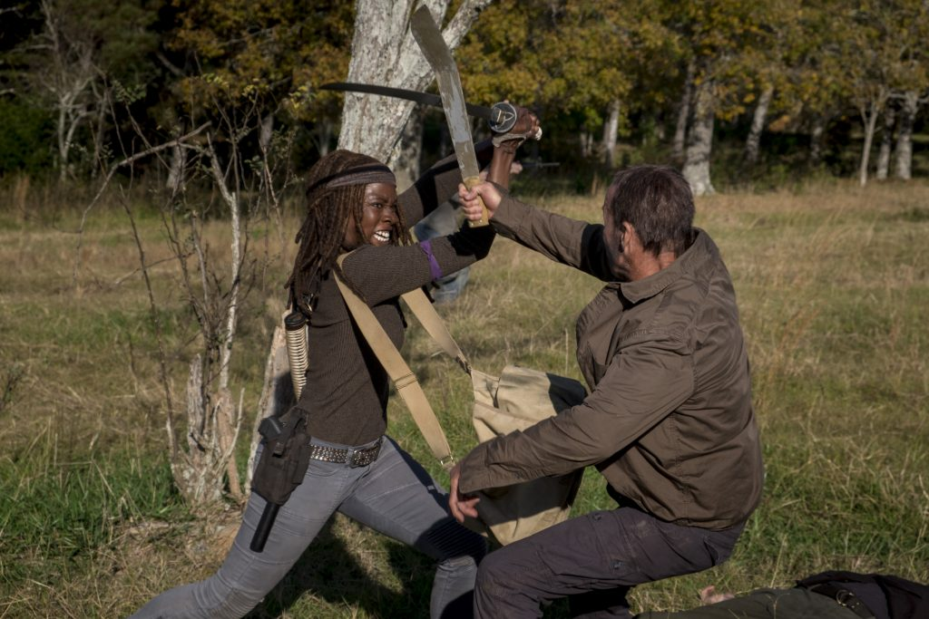 Danai Gurira as Michonne - The Walking Dead _ Season 8, Episode 16 - Photo Credit: Gene Page/AMC