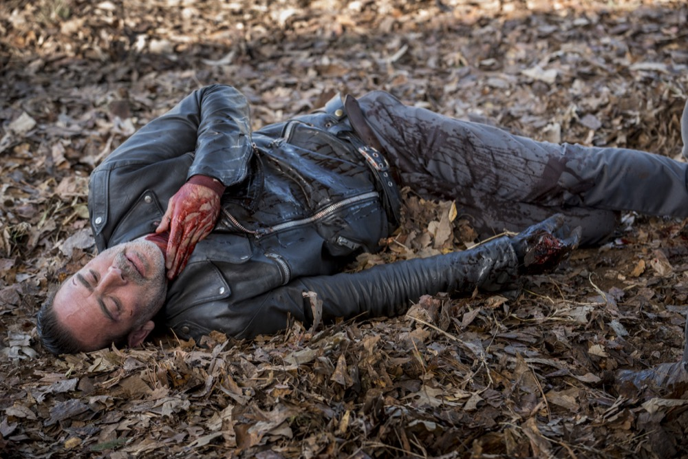 Jeffrey Dean Morgan as Negan - The Walking Dead _ Season 8, Episode 16 - Photo Credit: Gene Page/AMC