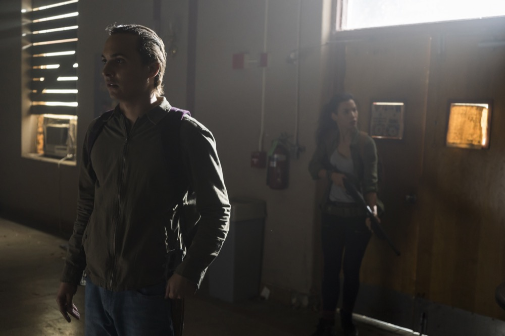 Frank Dillane as Nick Clark, Danay Garcia as Luciana - Fear the Walking Dead _ Season 4, Episode 4 - Photo Credit: Richard Foreman, Jr/AMC