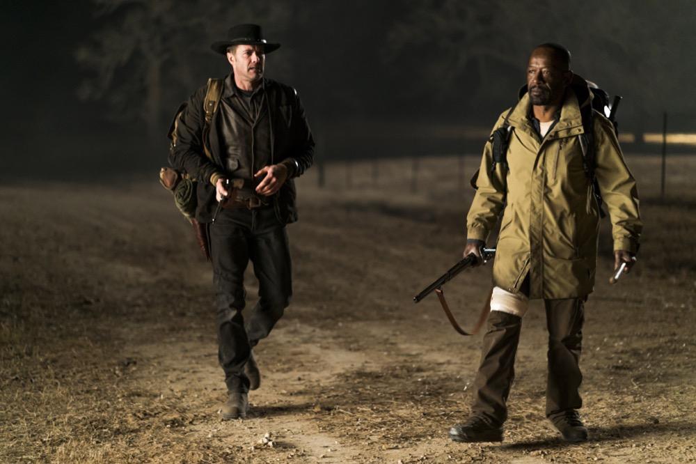 Lennie James as Morgan Jones, Garret Dillahunt as John Dorey - Fear the Walking Dead _ Season 4, Episode 4 - Photo Credit: Richard Foreman, Jr/AMC