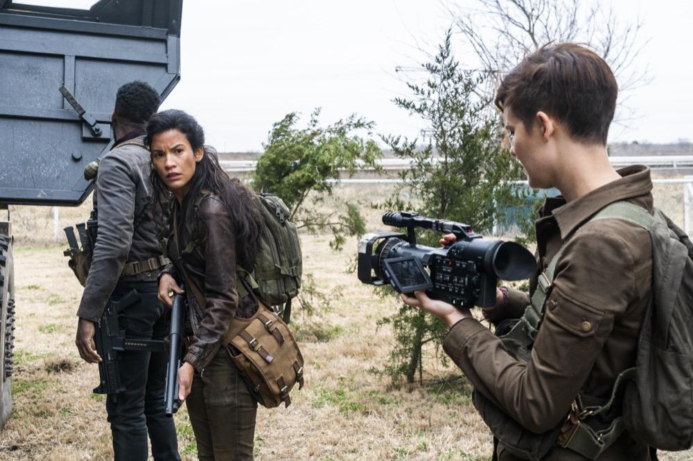 Colman Domingo as Victor Strand, Danay Garcia as Luciana, Maggie Grace as Althea - Fear the Walking Dead _ Season 4, Episode 6 - Photo Credit: Richard Foreman, Jr/AMC