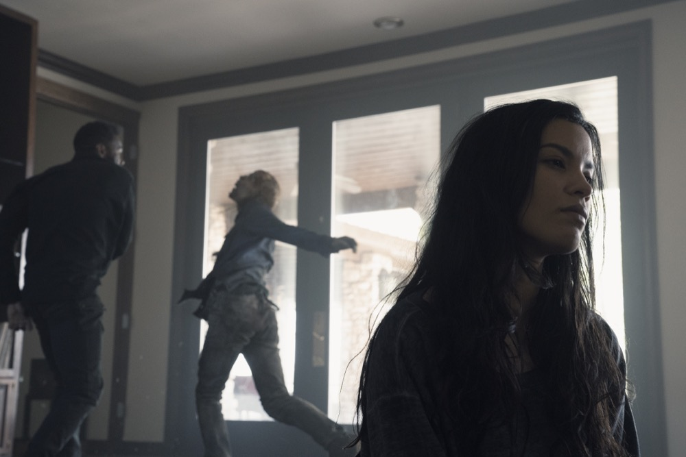 Danay Garcia as Luciana, Colman Domingo as Victor Strand- Fear the Walking Dead _ Season 4, Episode 9 - Photo Credit: Ryan Green/AMC