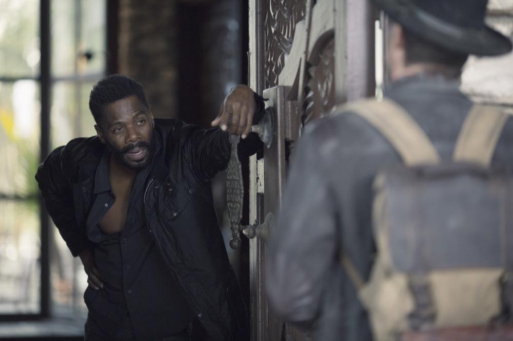 Colman Domingo as Victor Strand, Garret Dillahunt as John Dorie- Fear the Walking Dead _ Season 4, Episode 9 - Photo Credit: Ryan Green/AMC