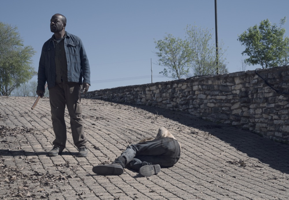 Lennie James as Morgan Jones - Fear the Walking Dead _ Season 4, Episode 9 - Photo Credit: Ryan Green/AMC