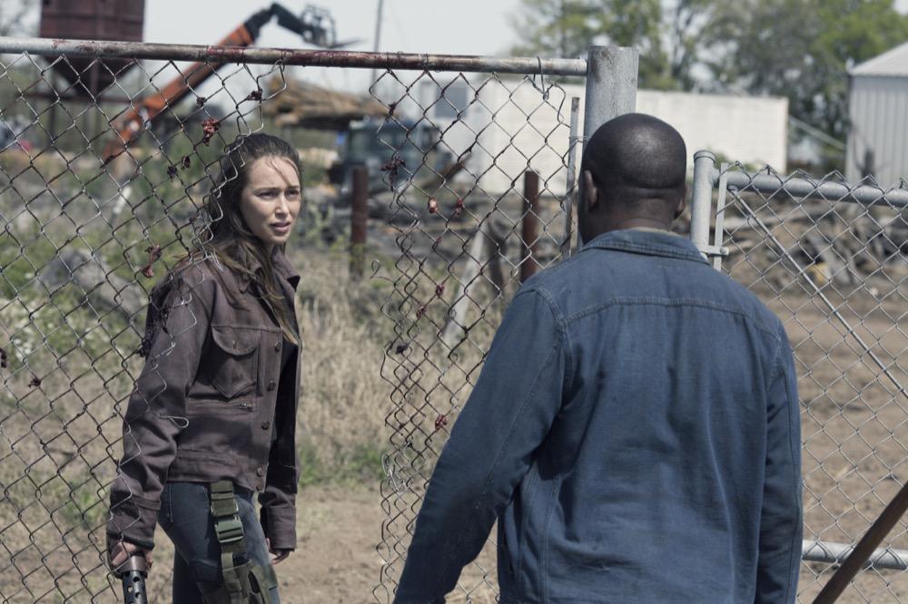 Alycia Debnam-Carey as Alicia Clark, Lennie James as Morgan Jones; group- Fear the Walking Dead _ Season 4, Episode 9 - Photo Credit: Ryan Green/AMC