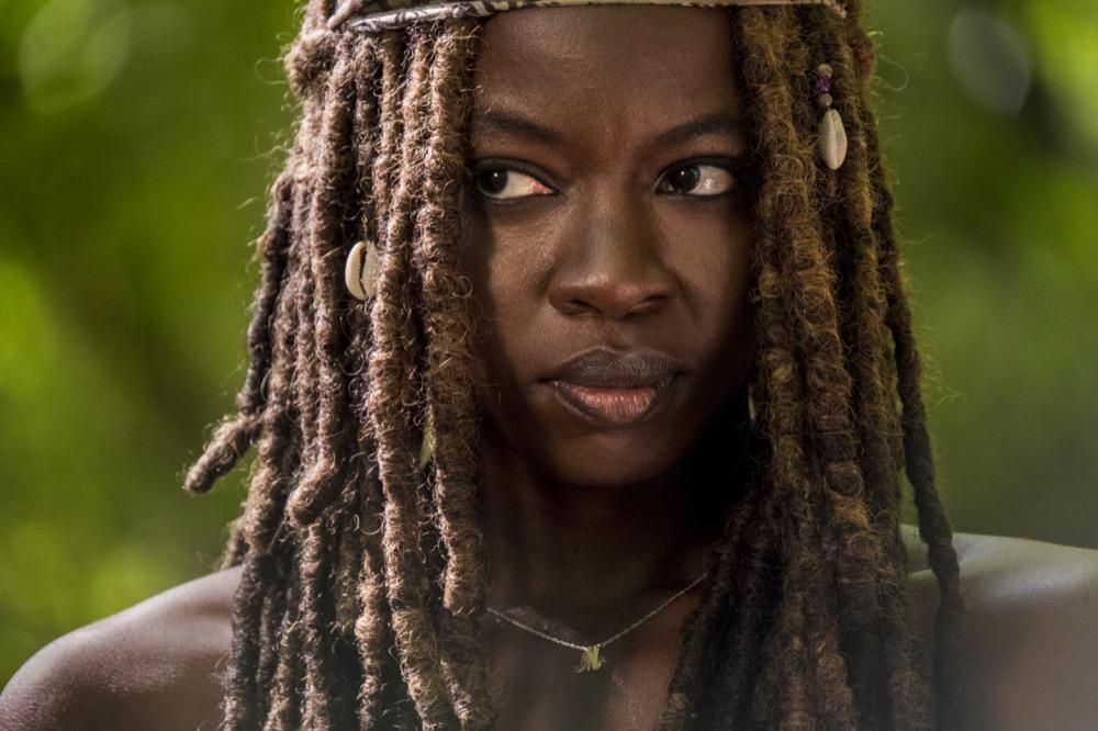 Danai Gurira as Michonne- The Walking Dead _ Season 9, Episode 1 - Photo Credit: Jackson Lee Davis/AMC