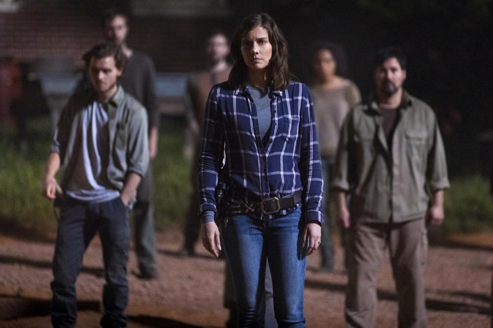 Callan McAuliffe as Alden, Lauren Cohan as Maggie Rhee- The Walking Dead _ Season 9, Episode 1 - Photo Credit: Jackson Lee Davis/AMC