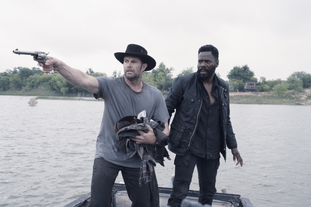 Garret Dillahunt as John Dorie, Colman Domingo as Victor Strand - Fear the Walking Dead _ Season 4, Episode 13 - Photo Credit: Ryan Green/AMC