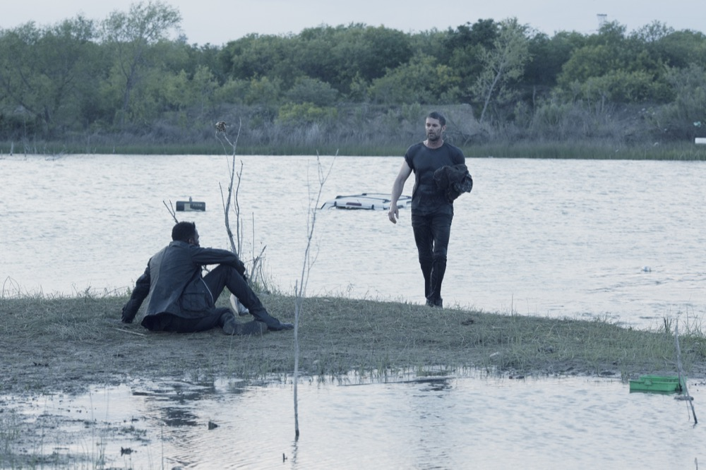 Garret Dillahunt as John Dorie, Colman Domingo as Victor Strand- Fear the Walking Dead _ Season 4, Episode 13 - Photo Credit: Ryan Green/AMC