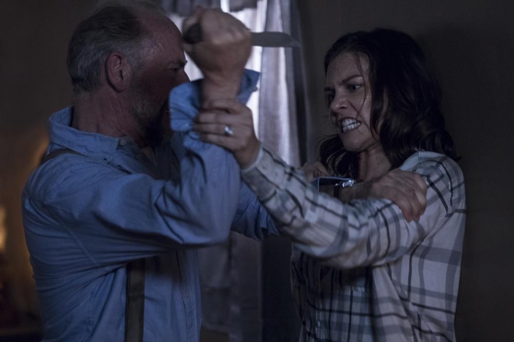 Xander Berkeley as Gregory, Lauren Cohan as Maggie Rhee- The Walking Dead _ Season 9, Episode 1 - Photo Credit: Jackson Lee Davis/AMC