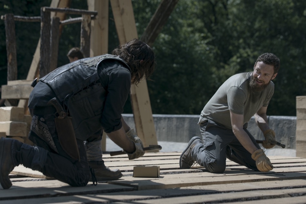Norman Reedus as Daryl Dixon, Ross Marquand as Aaron- The Walking Dead _ Season 9, Episode 2 - Photo Credit: Jackson Lee Davis/AMC