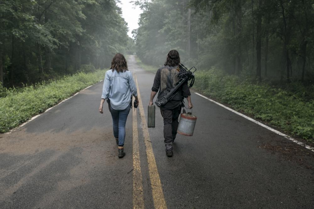 Norman Reedus as Daryl Dixon, Lauren Cohan as Maggie Rhee- The Walking Dead _ Season 9, Episode 3 - Photo Credit: Gene Page/AMC