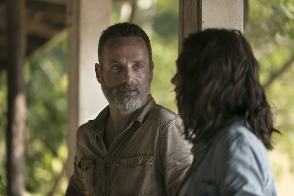 Lauren Cohan as Maggie Rhee, Andrew Lincoln as Rick Grimes- The Walking Dead _ Season 9, Episode 3 - Photo Credit: Gene Page/AMC