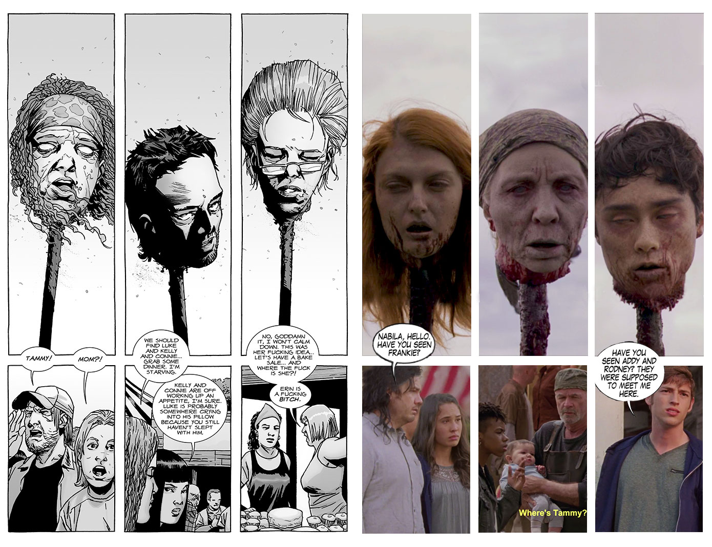 The Walking Dead Season 9 Episode 15 Comic Vs Show